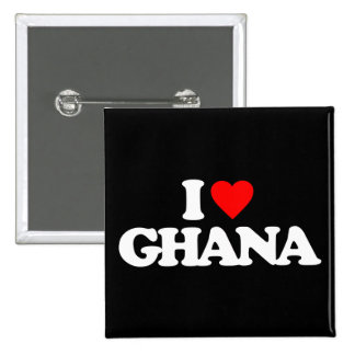 I LOVE GHANA PINBACK BUTTONS