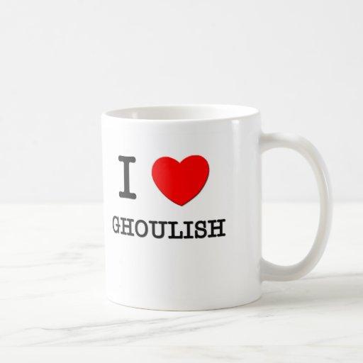 I Love Ghoulish Basic White Mug