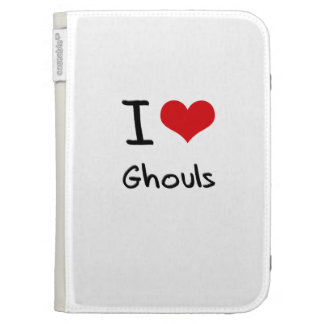 I Love Ghouls Kindle 3G Cases
