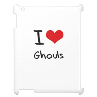I Love Ghouls iPad Cover