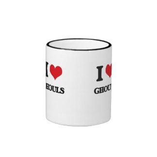 I love Ghouls Ringer Coffee Mug