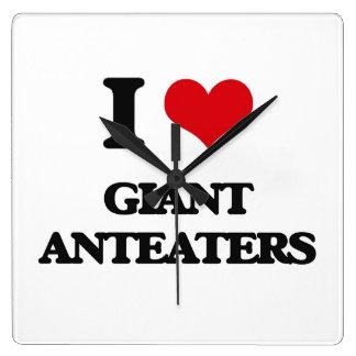 I love Giant Anteaters Clocks