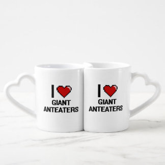 I love Giant Anteaters Digital Design Coffee Mug Set