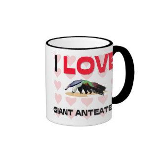 I Love Giant Anteaters Ringer Coffee Mug