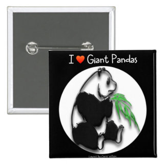 I LOVE GIANT PANDAS BUTTONS