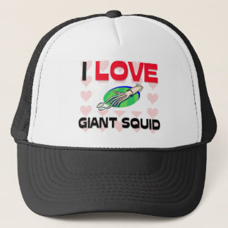 I Love Giant Squid Trucker Hat