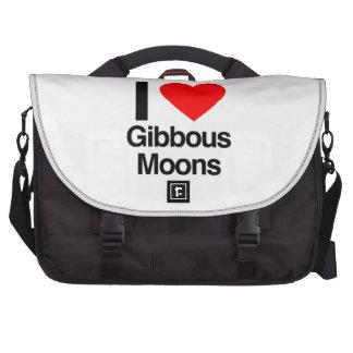 i love gibbous moons laptop computer bag