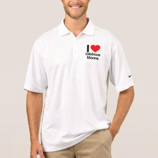 i love gibbous moons polo t-shirt