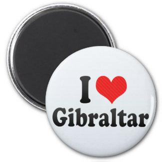 I Love Gibraltar 6 Cm Round Magnet