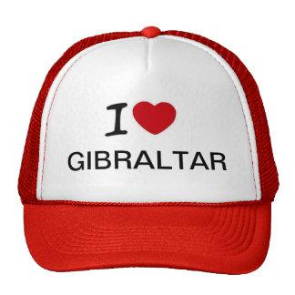 I Love Gibraltar Truckers Hat Design