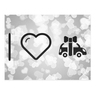 I Love Gift Cars Postcard