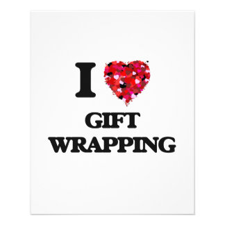 I love Gift Wrapping 11.5 Cm X 14 Cm Flyer