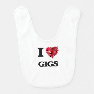 I Love Gigs Baby Bibs