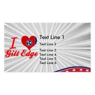 I Love Gilt Edge, Tennessee Business Card