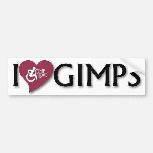 I Love Gimps Bumper Stickers