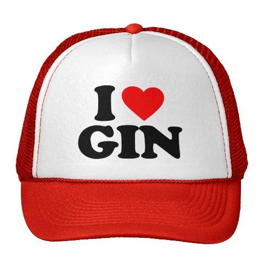 I LOVE GIN TRUCKER HAT