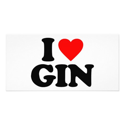 I LOVE GIN PERSONALIZED PHOTO CARD