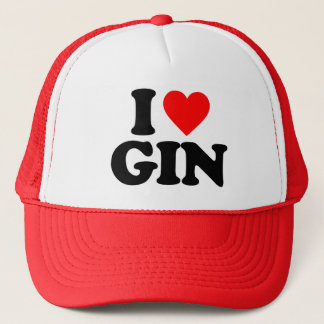 I LOVE GIN TRUCKER HAT