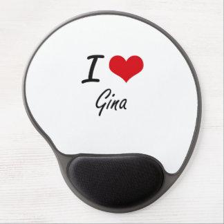 I Love Gina artistic design Gel Mouse Pad
