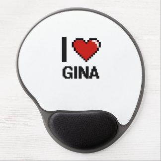 I Love Gina Digital Retro Design Gel Mouse Pad