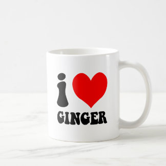 i love ginger coffee mug
