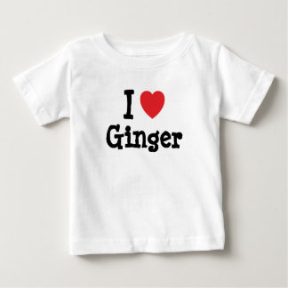 I love Ginger heart T-Shirt