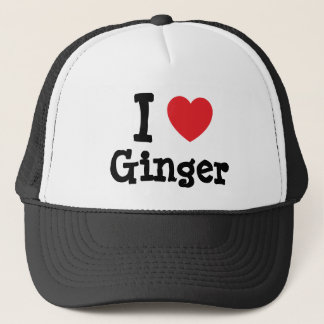 I love Ginger heart T-Shirt Trucker Hat