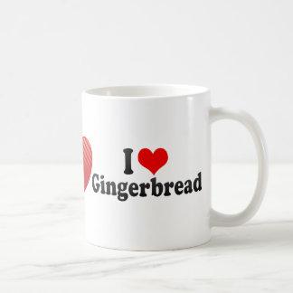 I Love Gingerbread Coffee Mugs