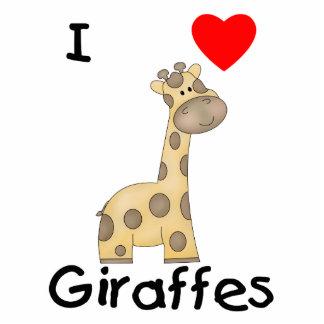 I Love Giraffes (2) Standing Photo Sculpture