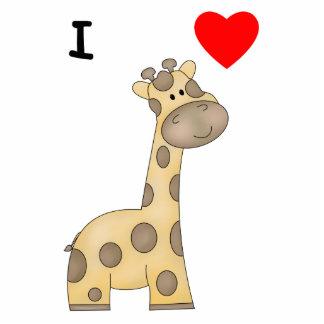 I Love Giraffes (3) Acrylic Cut Outs
