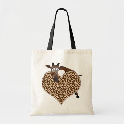 I Love Giraffes Bags