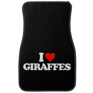 I LOVE GIRAFFES CAR MAT