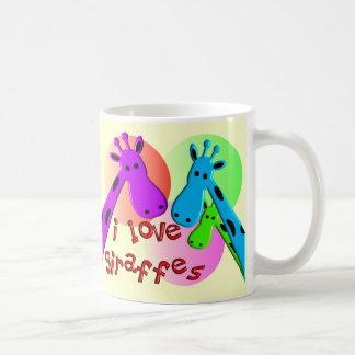 I Love Giraffes gifts Basic White Mug