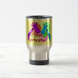 I Love Giraffes gifts Stainless Steel Travel Mug
