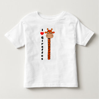 I love giraffes toddler T-Shirt