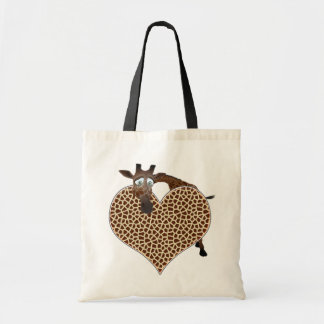 I Love Giraffes Tote Bag
