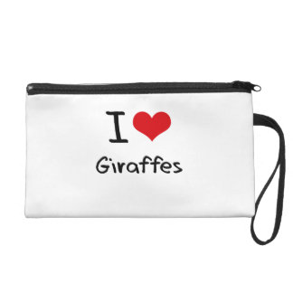 I Love Giraffes Wristlet