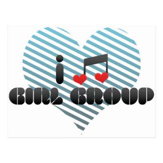 I Love Girl Group Postcards