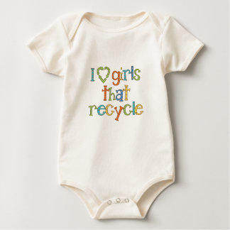 I Love Girls That Recycle Baby Bodysuit