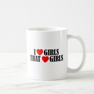 I love girls who love girls basic white mug