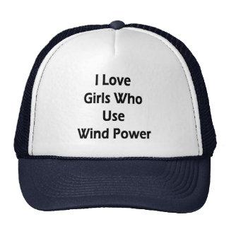 I Love Girls Who Use Wind Power Mesh Hats
