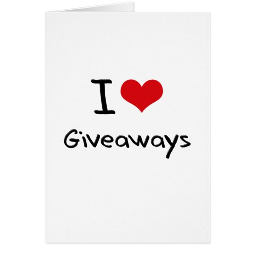 I Love Giveaways Card