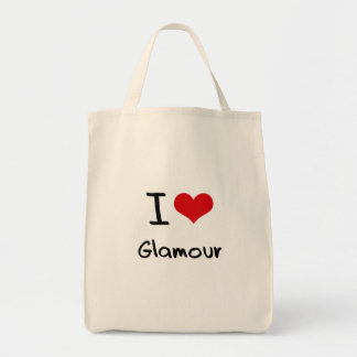 I Love Glamour Canvas Bags