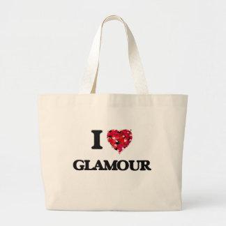 I Love Glamour Jumbo Tote Bag