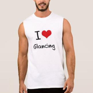 I Love Glancing Sleeveless Shirts