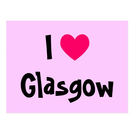 I Love Glasgow Postcard