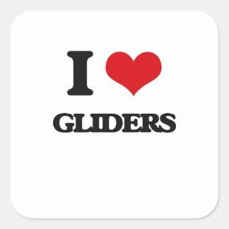 I love Gliders Square Sticker