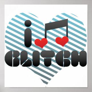 I Love Glitch Posters