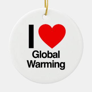 i love global warming christmas tree ornaments