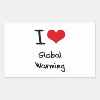 I Love Global Warming Rectangular Stickers